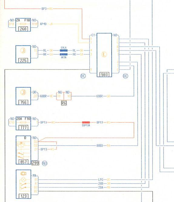 Datei:ZV Schaltplan Innentaste.jpg – myKangoo.de Wiki
